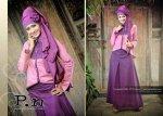 Busana Muslim Gamis P.N Stl 0602 Ungu