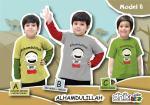 "Kaos Anak Islami Bertema ""Alhamdulillah"""