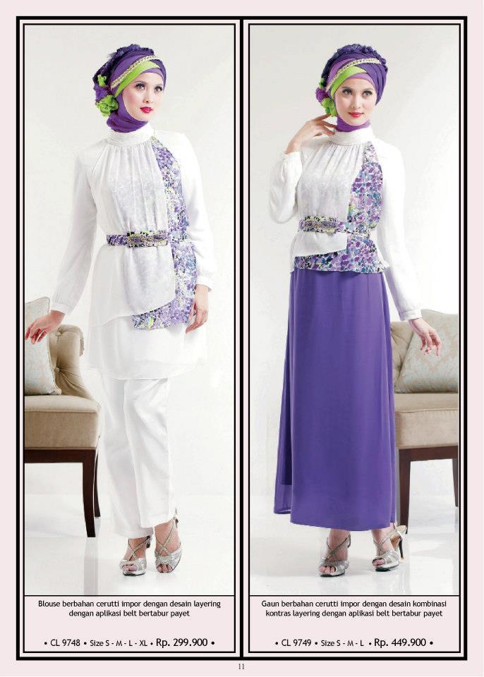 Calosa Cl 9748 Cl 9749 Busana Muslim Baju Muslim