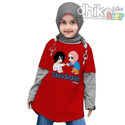 Model Baju Kaos Muslim Anak Perempuan Terbaru