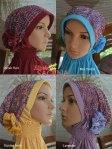 pilihan warna jilbab pesta saqina