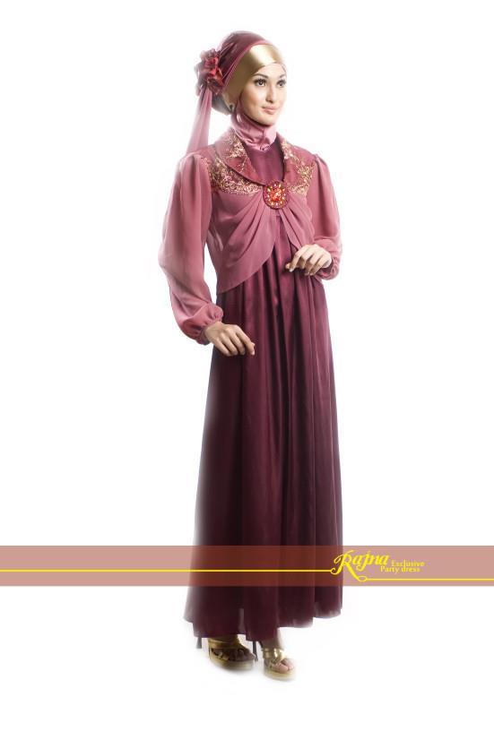 Gamis Pesta Mewah Busana Muslim Baju Muslim Pusat