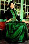 dress pesta roseblack hijau