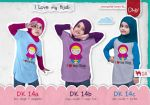 "Kaos Dhikr Kids Model 14 ""I Love My Hijab"""