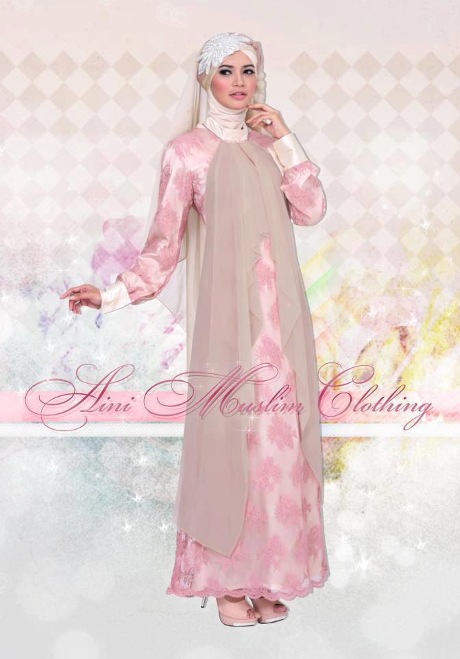 Gaun Muslim Mewah Busana Muslim Baju Muslim Pusat
