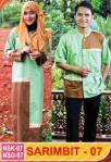 baju sarimbit muslim gamis dan koko NSK & NSG 07 Hijau Melon aplikasi coklat bordir