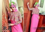 gamis kutung + outer pn 0616 pink