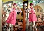 Setelan Tunik Dan Celana P.N 0617 Merah Bata-Cream
