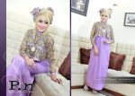gamis kutung + outer p.n 0616 violet