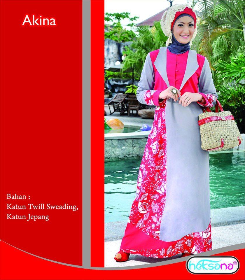 Gamis Dengan Desain Bunga Bunga Busana Muslim Baju