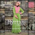 BYRNES GREEN PINK HARGA: 280.000 BAHAN : KOREAN ITY JERSEY SUPER, EKSLUSIV CORNELLY BROCADE SIZE: S/M L.D 94 CM, PANJANG DRESS 140 CM L/XL L.D 100 CM, PANJANG DRESS 140 CM