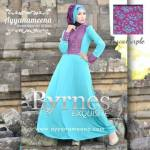 BYRNES TOSCA PURPLE HARGA: 280.000 BAHAN : KOREAN ITY JERSEY SUPER, EKSLUSIV CORNELLY BROCADE SIZE: S/M L.D 94 CM, PANJANG DRESS 140 CM L/XL L.D 100 CM, PANJANG DRESS 140 CM