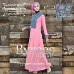 BYRNES PINK GREEN HARGA: 280.000 BAHAN : KOREAN ITY JERSEY SUPER, EKSLUSIV CORNELLY BROCADE SIZE: S/M L.D 94 CM, PANJANG DRESS 140 CM L/XL L.D 100 CM, PANJANG DRESS 140 CM