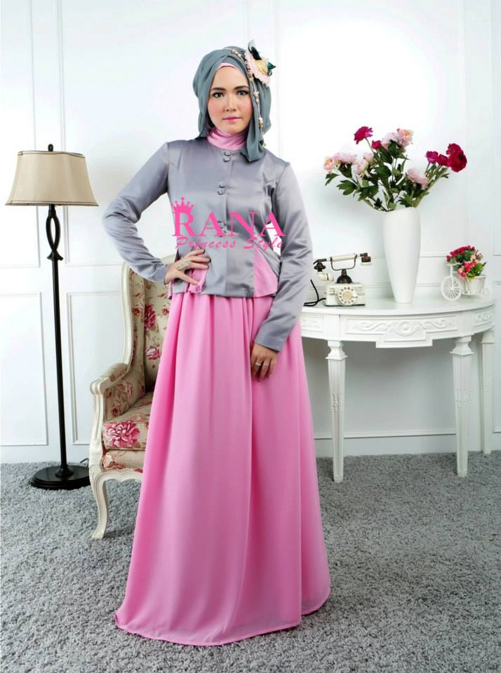 Setelan Baju Rok Eksklusif Nirmala Pink Busana Muslim