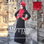 BYRNES BLACK RED HARGA: 280.000 BAHAN : KOREAN ITY JERSEY SUPER, EKSLUSIV CORNELLY BROCADE SIZE: S/M L.D 94 CM, PANJANG DRESS 140 CM L/XL L.D 100 CM, PANJANG DRESS 140 CM