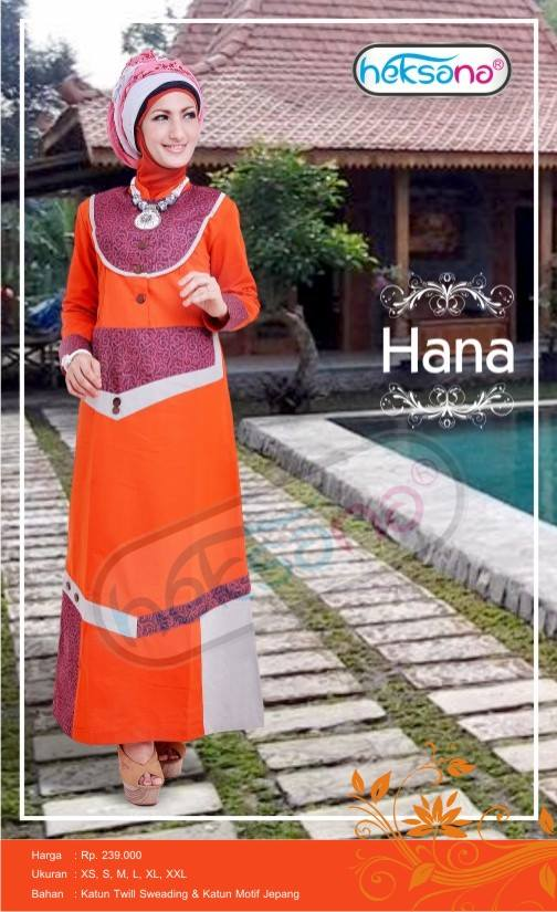 Koleksi Gamis Cantik Simple Heksana Busana Muslim Baju