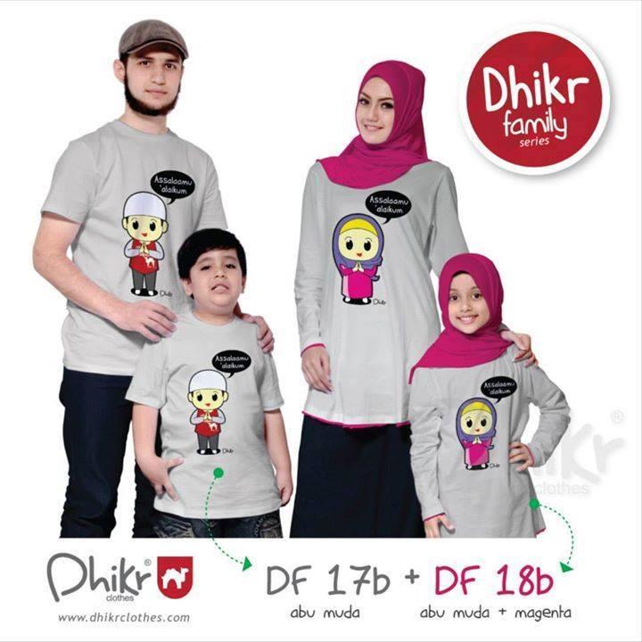 Kaos Dhikr Family New Variant Busana Muslim Baju Muslim