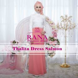 dress thalita salmon by rana princess