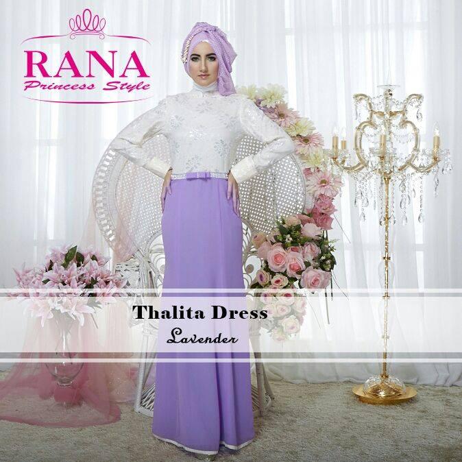 Thalita Dress By Rana Princess Style Busana Muslim Baju